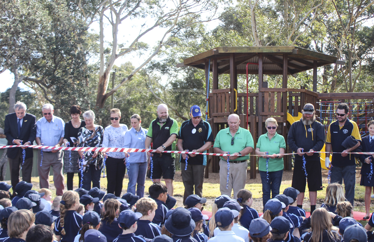 The opening of the new playground equipment.
