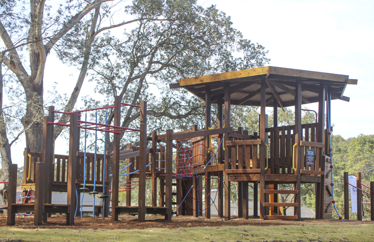 The new playground equipment.