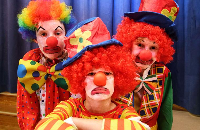 Depressed Clowns Benjamin Carpenter, Rowan Connick and Joshua Carpenter.