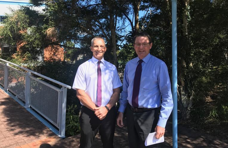 Parliamentary Secretary for the Hunter Scot MacDonald MLC with Port Stephens Council General Manager Wayne Wallis