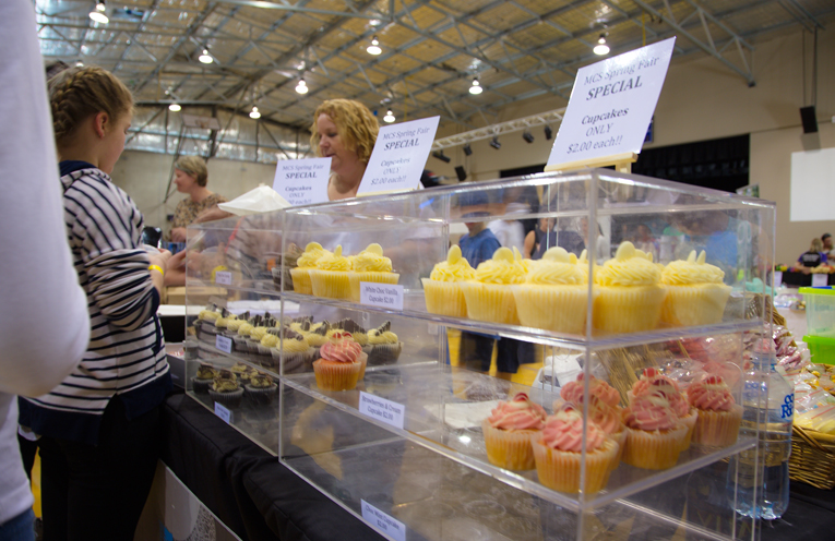 Delicious cupcakes at one of the boutique market stalls. Photo by Pete Neville