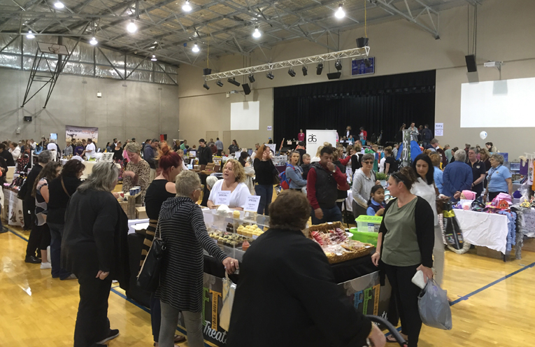 The boutique market inside the main hall was a hit with the adults.