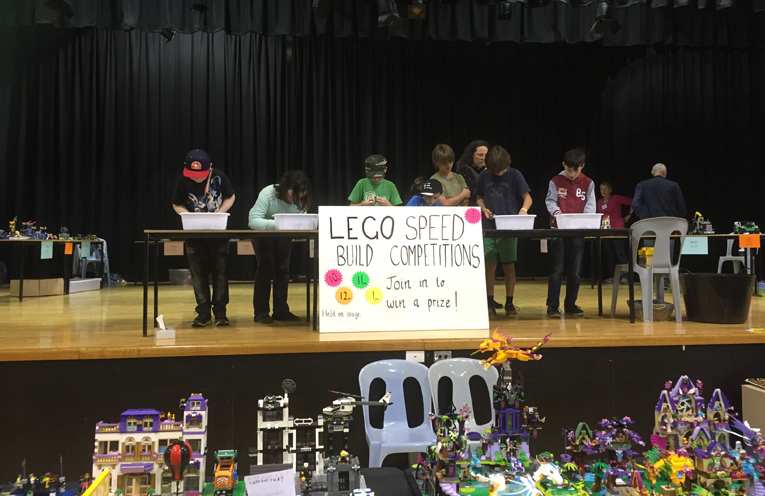 Lots of happy winners throughout the day who participated in the lego building competition.
