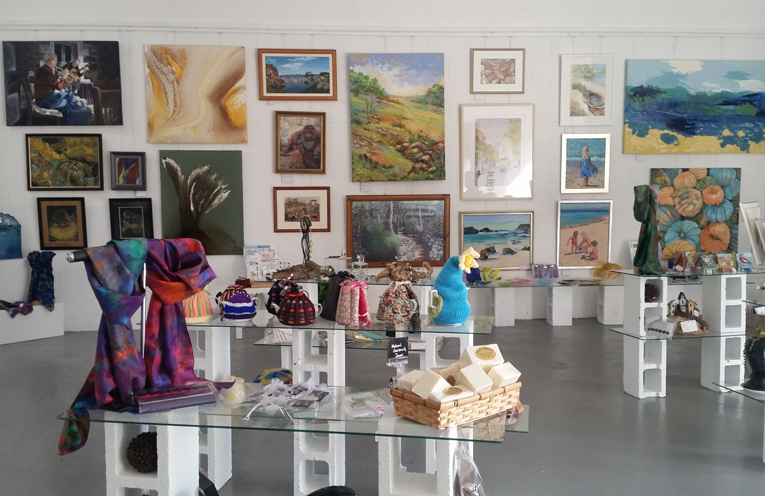 The beautiful new gallery is all set up.