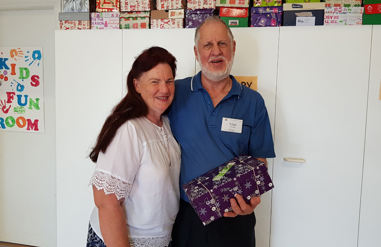 SHOEBOX PROJECT: Ruth and Alan Calcutt.