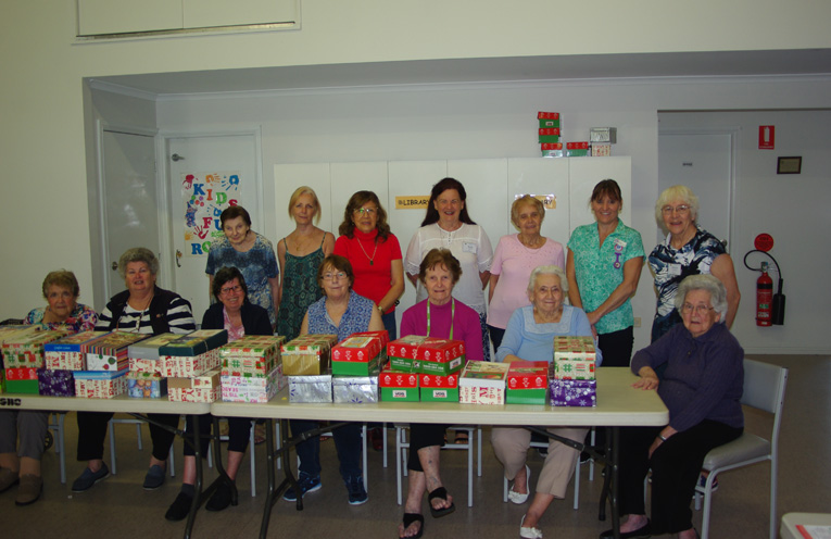 SHOEBOX PROJECT: Peter Sinclair Gardens Residents help out.