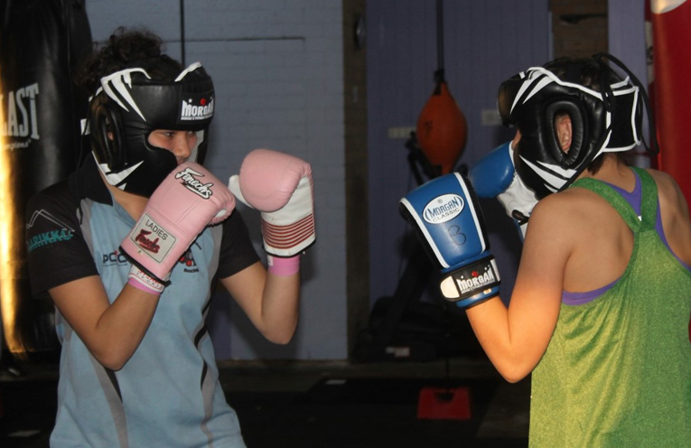 SPARRING PARTNERS: PCYC Gym at Hawks Nest.