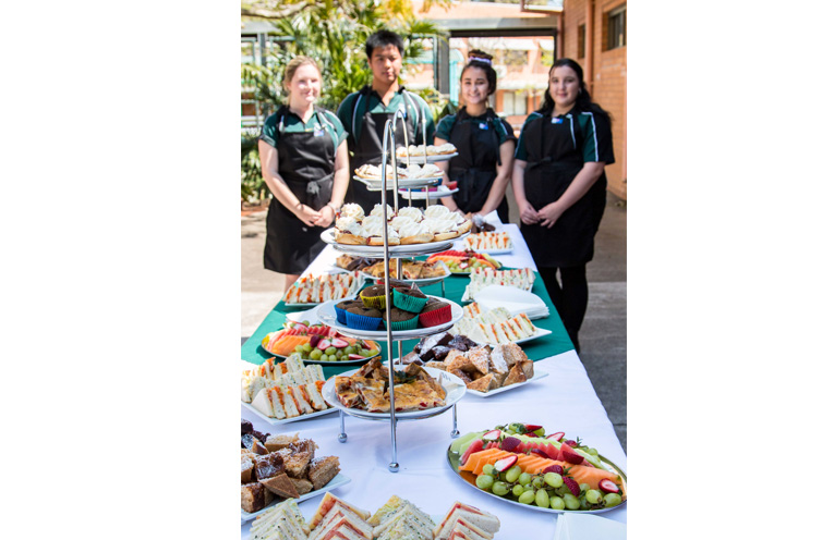 Year 11 students cooked, prepared and served the food for the graduation.