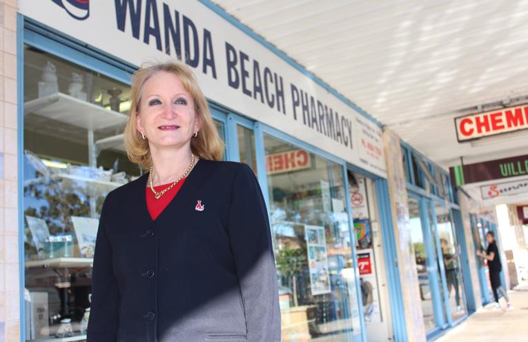 Sandra Toth is celebrating 30 years at the Wanda Beach Pharmacy.