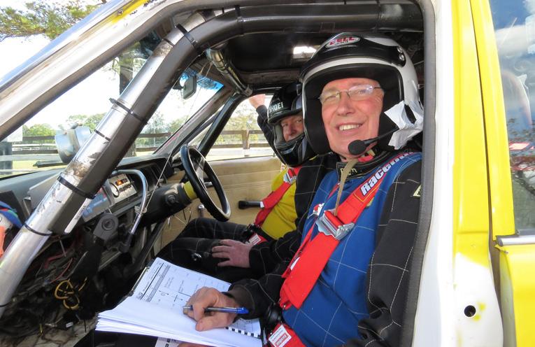 Driver Bob Moore and navigator David Gray.