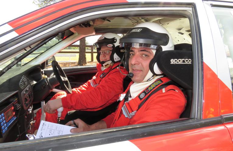 Driver Darren Spinks and navigator Robert Males.
