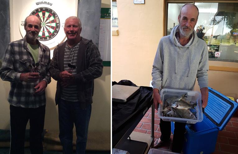 Darts runner up Robert Bartlett and winner Geoff Smith.(left) Men's winner Robert Bartlett. (right)