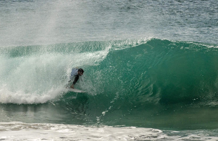 Surfing at King of the Box, Box Beach Port Stephens.