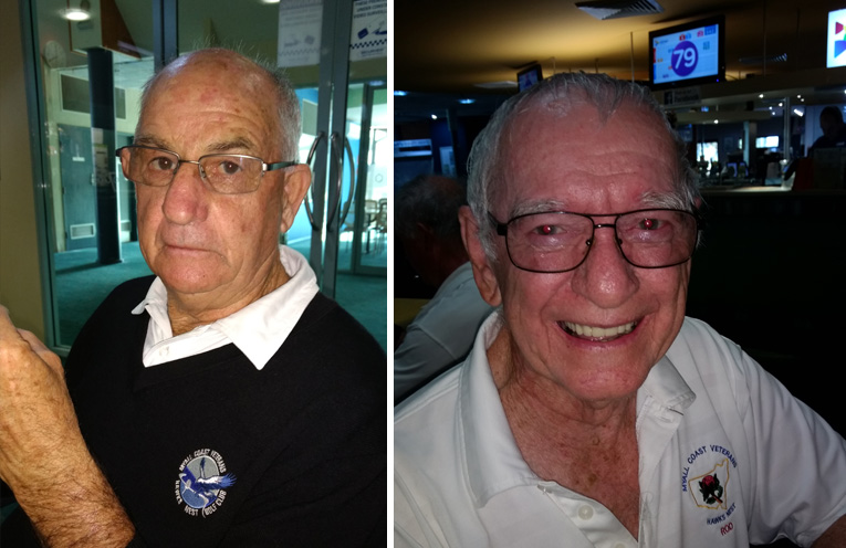A Grade winner Bob Peters.(left) C Grade winner Rod Toohey.(right)