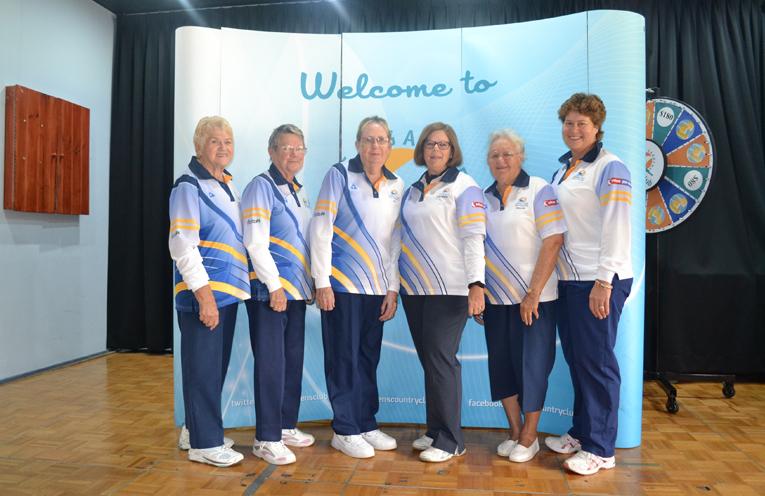 1.Club Triples Finalists: Bev Rhodes, Wendy Brand, Elizabeth Kelly, Kayelene Pearson, Maynie Roberts and Robyn Beaumont.