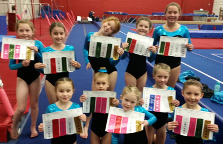 Gymnasts from the TPT club.