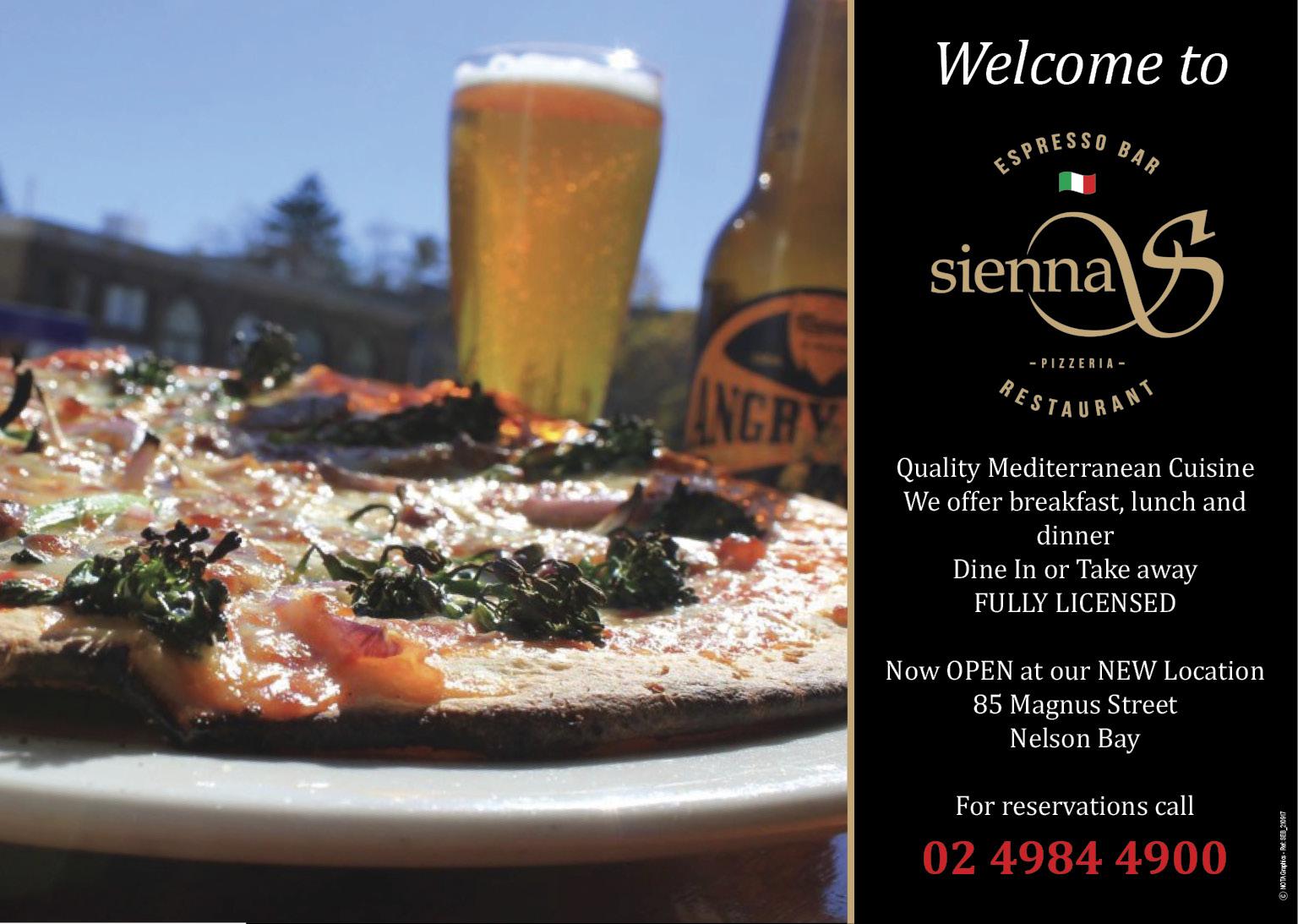 Sienna's Pizza Bar & Restaurant