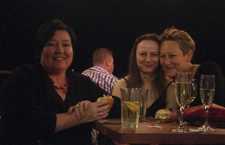 Tracy Rigby, Cindy Skora and Leah Anderson at the Hunger Project Fundraising event.