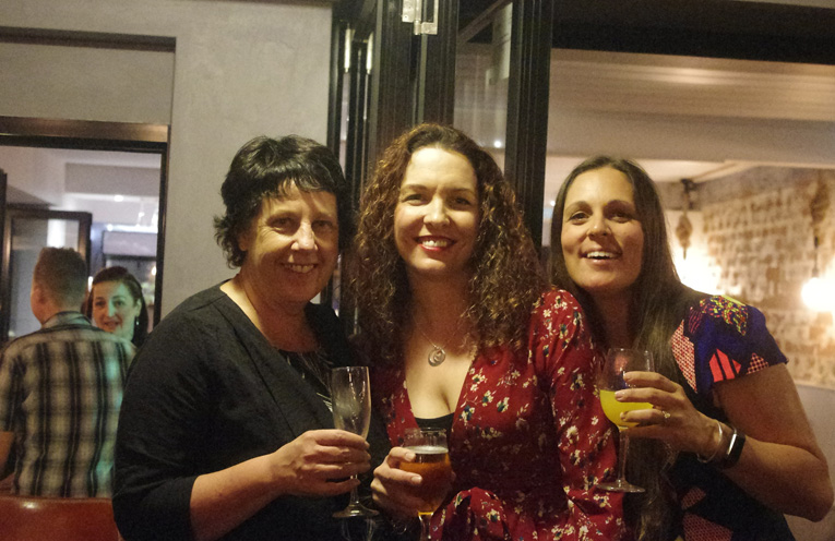 Michelle Zanere, Michelle Southall and Kate Phillips at the Hunger Project Fundraising Event.