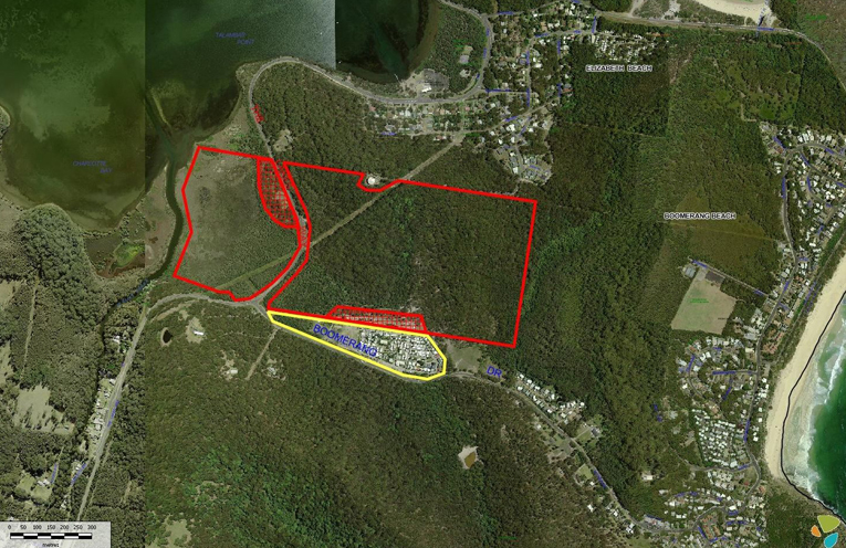 The aerial map shows the proposed area under the planning agreement and planning proposal.