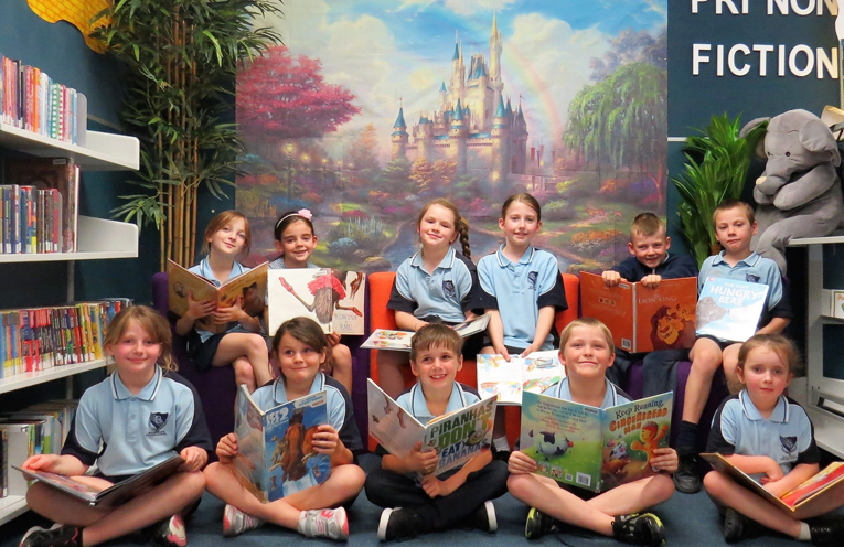 The Betty Bramble Reading Corner is popular with all students.