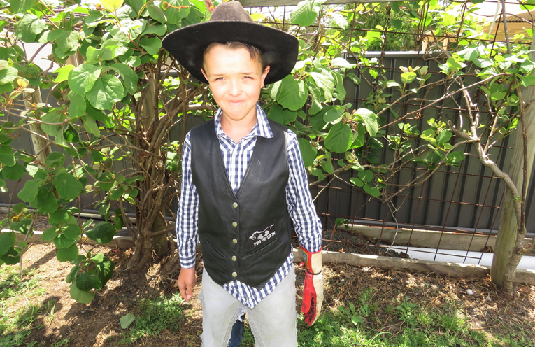 Young Cowboy Frankie Roberts.