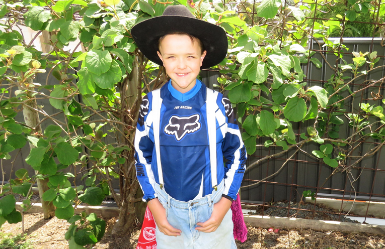 Frankie Roberts wants to become a rodeo clown.