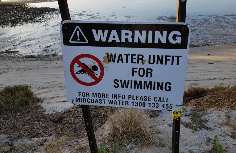 WINDA WOPPA: Closed to Swimmers.