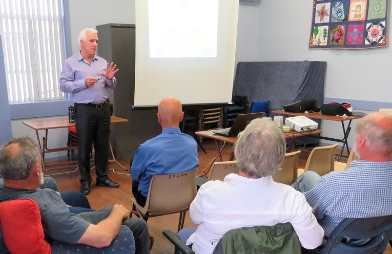 MidCoast General Manager Glenn Handford at the Bulahdelah community meeting.