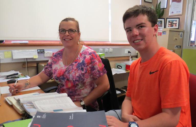 BCS Career Advisor Linda Drenkhahn with Year 12 student Tom Locke.