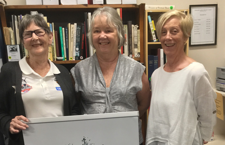 Margie Anderson, Marilynne Cullen and Anna Cordwell.