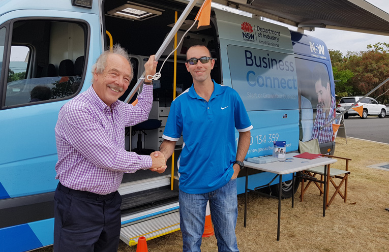 'BUSINESS CONNECT': Former CEO Michael Hilsden and Mat Youd.