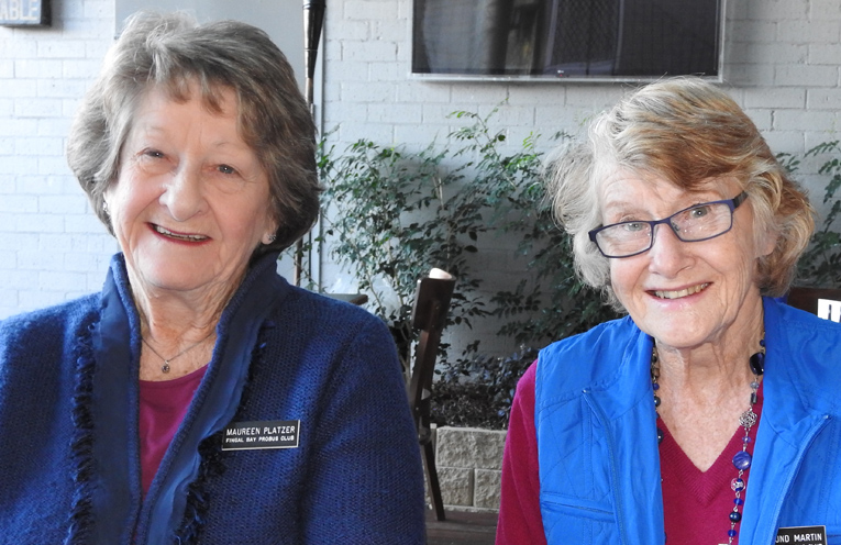 They're the Hostesses with the Mostest, Maureen Platzer and Rosamund Martin. Photo by Norman Martin