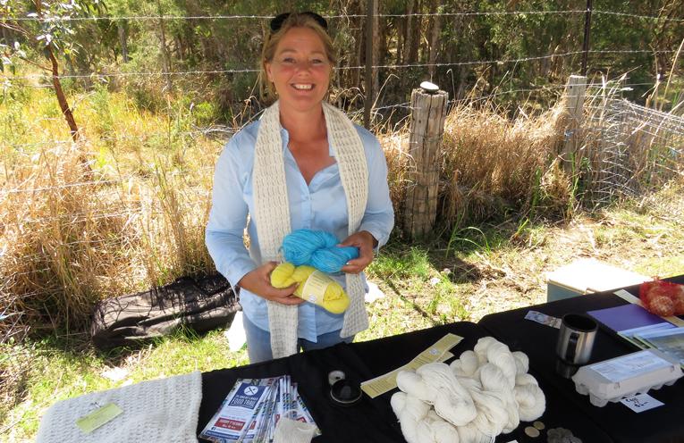 Lucy Land Merino Farm: Event co-organiser Julie Steepe.