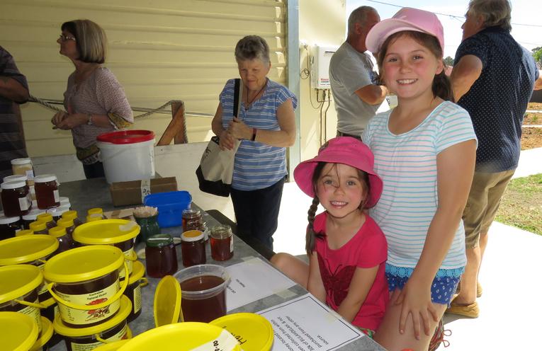 Honey Tasting: Lilli and Juliet Jennings at Bulahdelah Men's Shed.