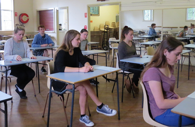 BCS music students ready to start the HSC listening exam.
