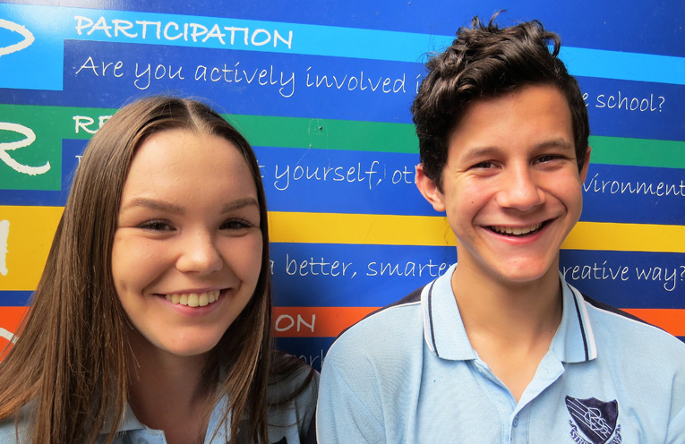 NEWS_HSC Good Luck_DS_PY_3_Molly Perry and Hunter Bramble