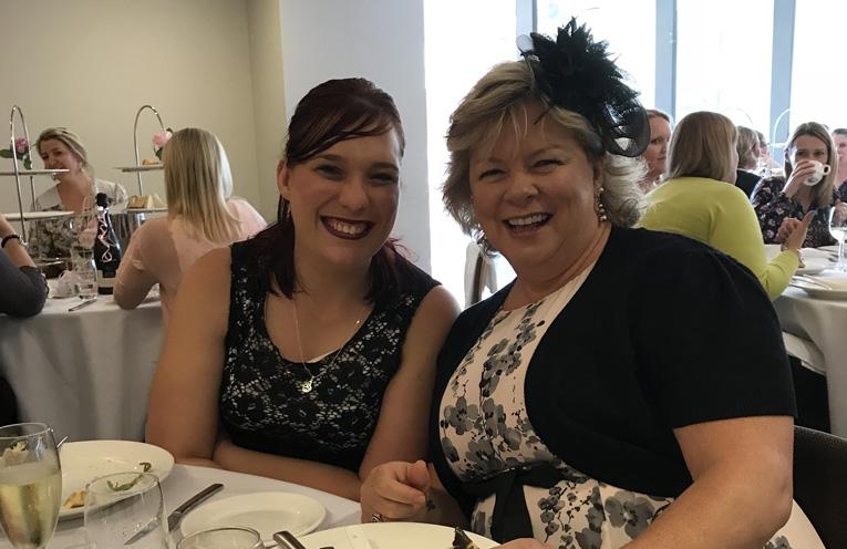 Manda Swan and Karen Swan at the High Tea for Heartfelt.