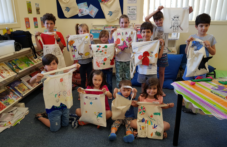 TEA GARDENS LIBRARY: Book Bag Fun.