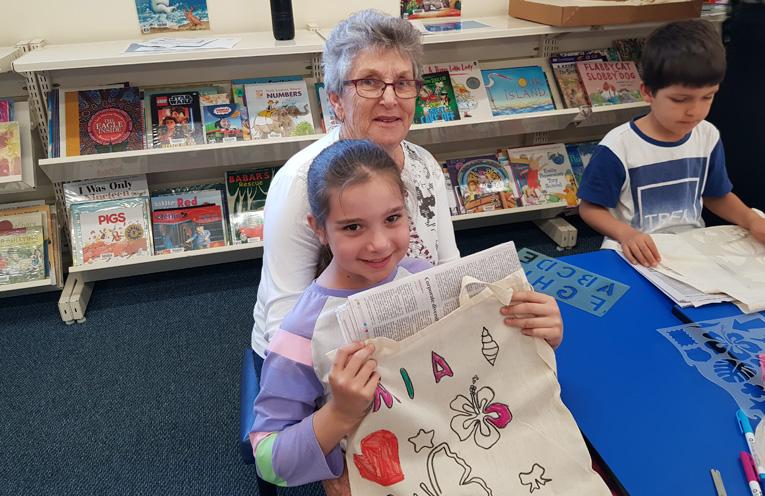 TEA GARDENS LIBRARY: Mia and Nan Lesley Turner.