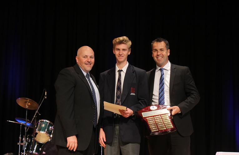 Simon Herd, Joshua Archer, Ryan Palmer – Dux of Year 12.