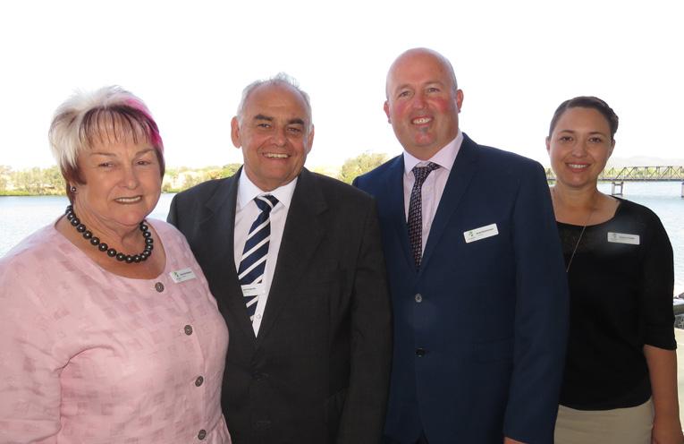 Councillors Karen Hutchinson, Len Roberts and Brad Christensen with Deputy Mayor Katheryn Smith.
