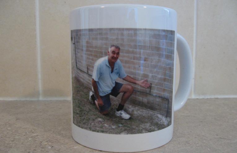 Geoff's Volcano Art Prize coffee mug.