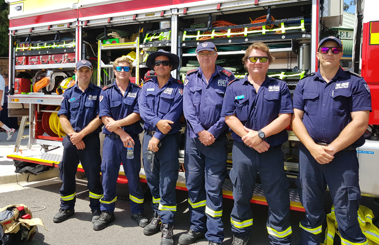 FIRE TRUCKS ON SHOW: Tea Gardens Fire Brigade.