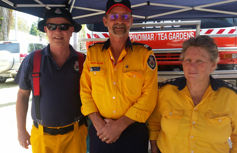 FIRE WISE STALL: Rural Fire Service Members.