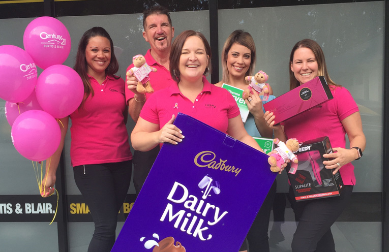 Nuraan Connolly, Mark Keating, Tiffany Jeffery, Amy Lochhead and Jane Blair are going pink.