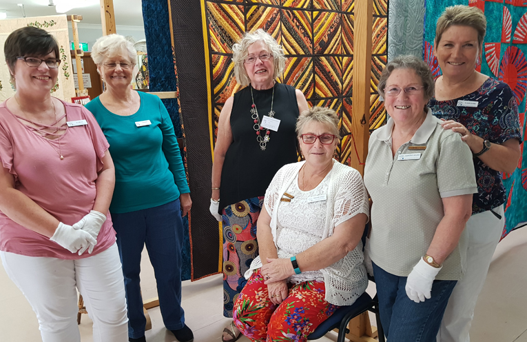 MYALL ARTS AND CRAFT CENTRE: Happy Quilting Group Members.