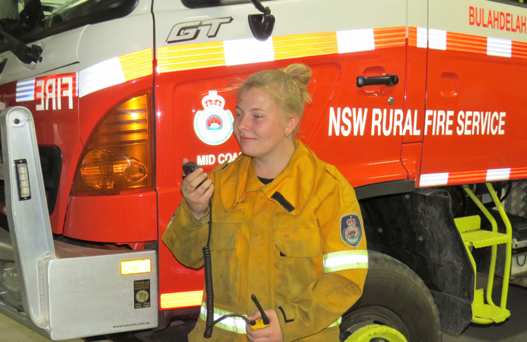 Meagan Terry has volunteered with the RFS for three years.