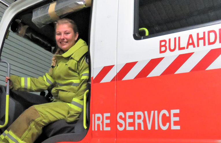 Volunteer Meagan Terry has attended more than 100 fires.