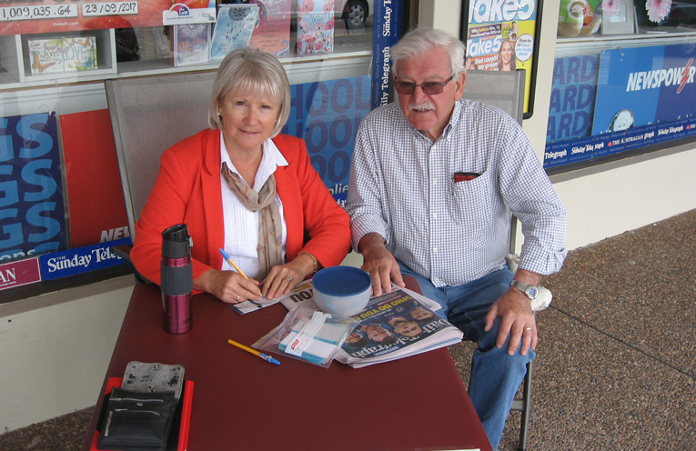 Louise and Lloyd – fundraising for Stewart House.